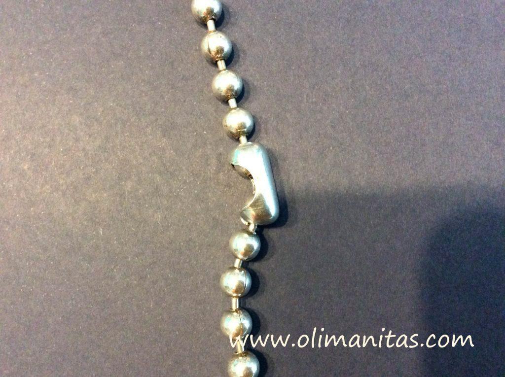 Ajustamos la cadena al tamaño final del collar