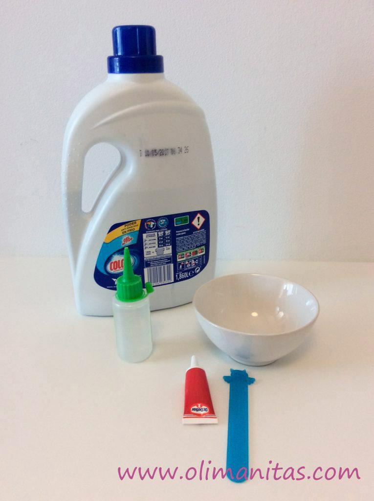 materiales necesarios para hacer slime sin bórax totalmente casero