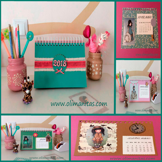 CALENDARIO 2018 EN SCRAPBOOKING