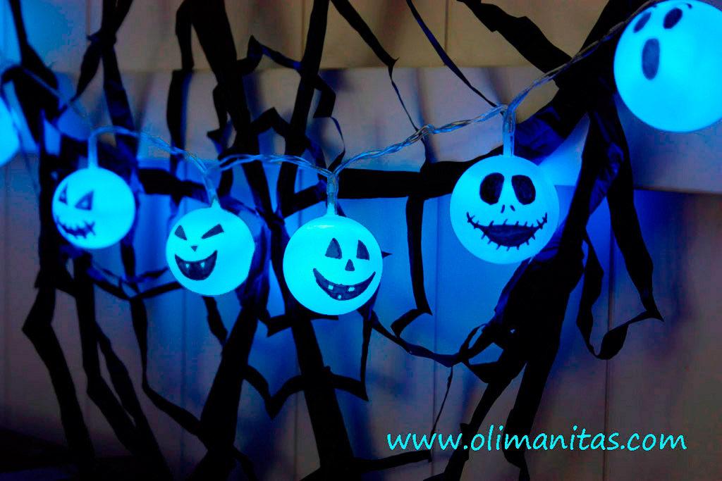 Guirnalda de Halloween luminosa