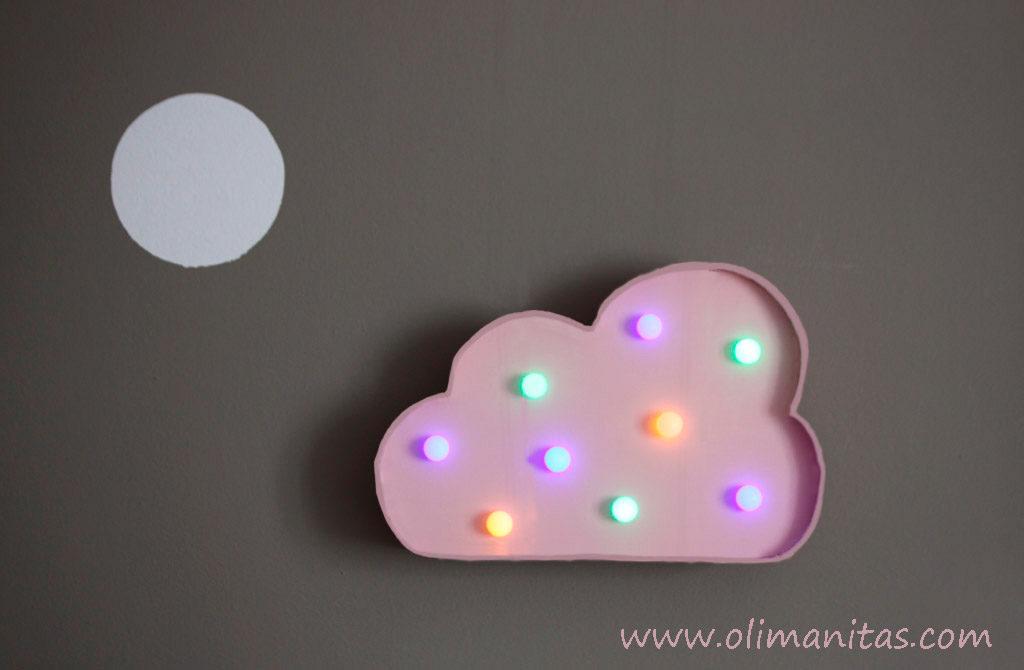Así se ve nuestra nube con luces led