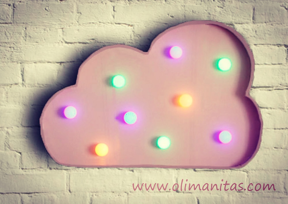 FIGURAS CON LUCES LED: NUBE