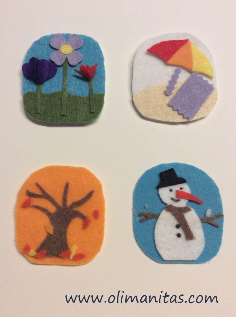 Ahora hacemos las figuras que representan las estaciones del año.
