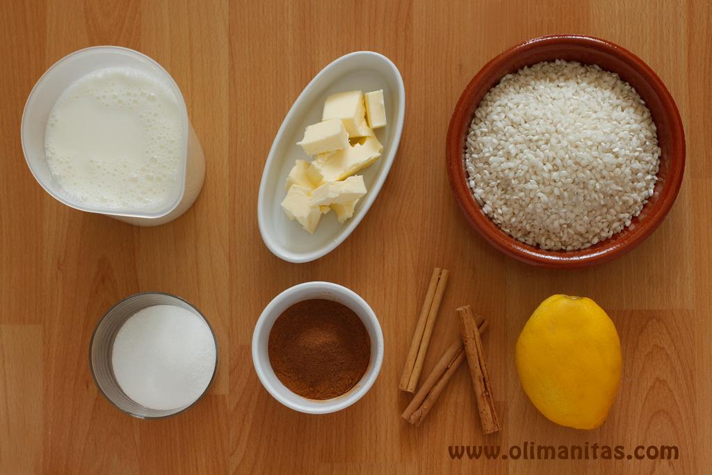 Ingredientes necesarios para hacer arroz con leche al estilo tradicional