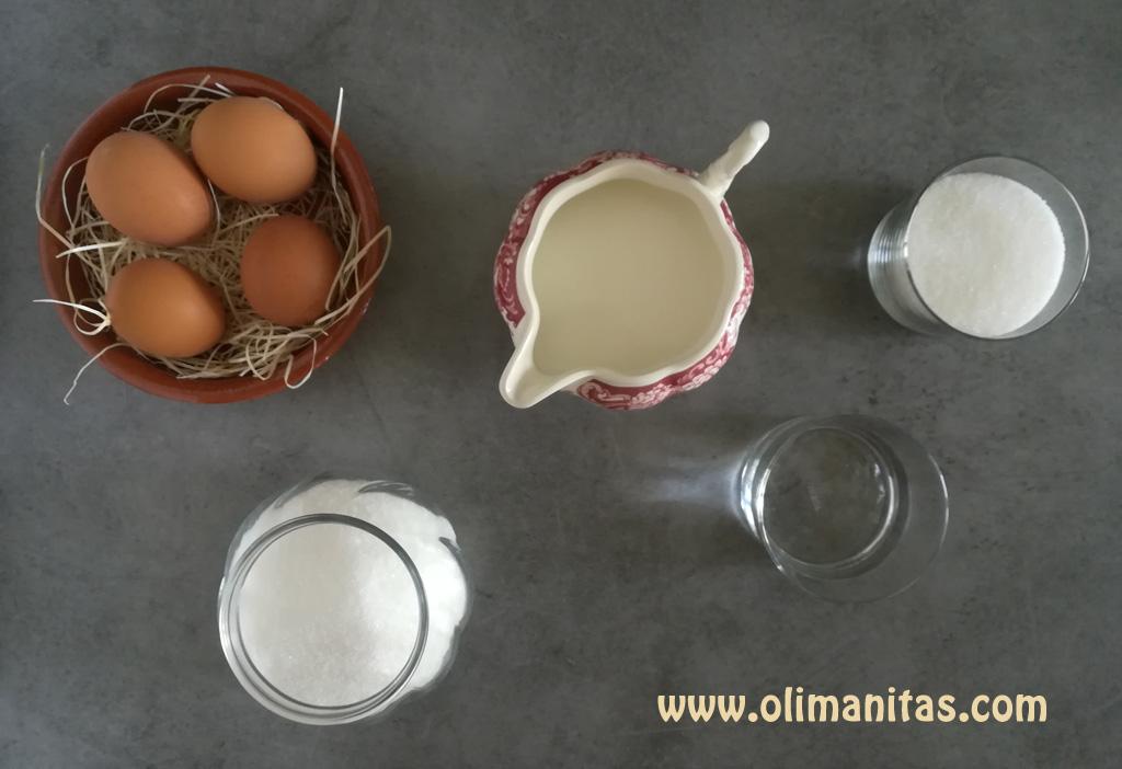 ingredientes necesarios para hacer un flan de huevo casero