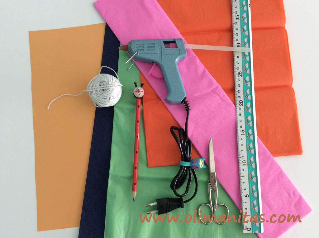 materiales necesarios para hacer una guirnalda de helados