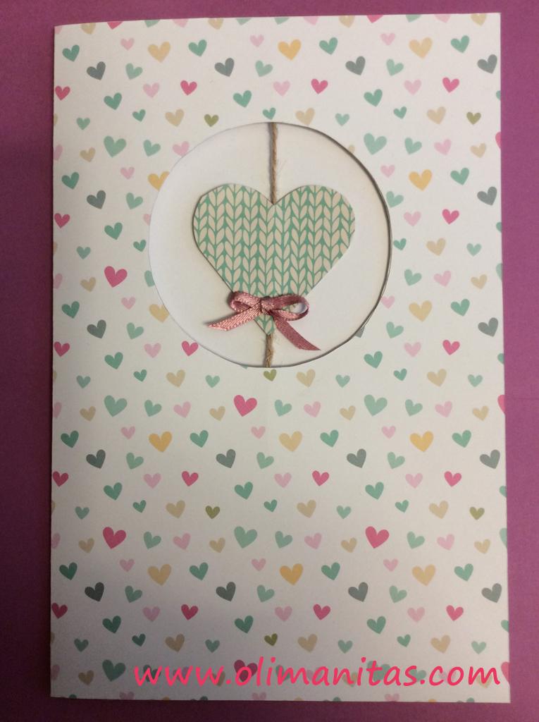 Así quedaría una de nuestras tarjetas de San Valentín