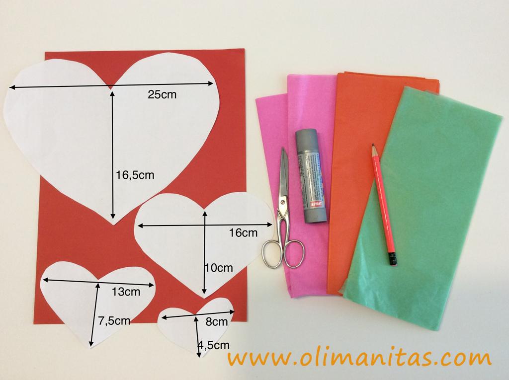 Materiales necesarios para hacer una tarjeta de felicitación Pop Up para el día de la madre