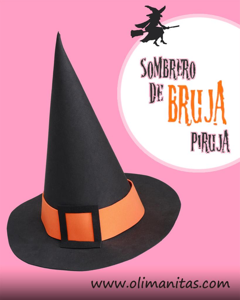 SOMBRERO DE BRUJA PIRUJA PARA HALLOWEEN. DIY